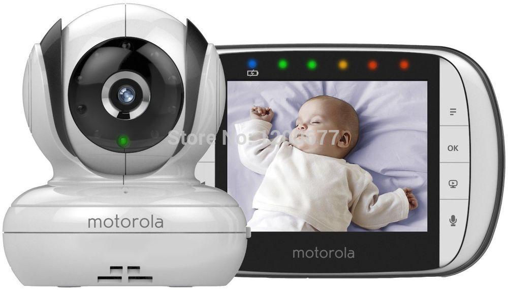 Garsent Vigilabeb/és con c/ámara Baby Vigilancia Baby Monitor de v/ídeo con Nanas visi/ón Nocturna y Control de Temperatura