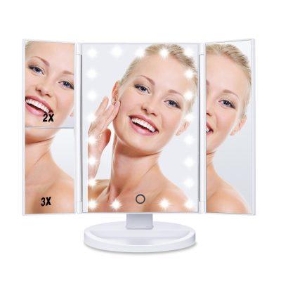 Hamswan Espejo Maquillaje Triptico Con Luz Y Umentos Por 23 99