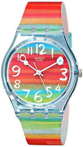 15d4084256d3 Swatch Reloj Analógico de Cuarzo para Mujer con Correa de Plástico – GS 124