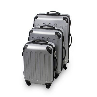 72fabb722 Juego de 3 maletas Todeco ABS 4 ruedas 360 plateadas por 80,99 €